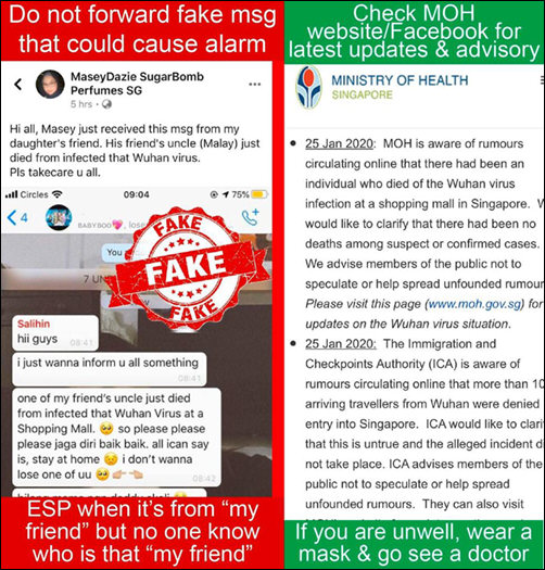 Wuhan Related Death In Sg Certified Fake News Nuisance